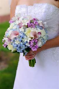 Soft and feminine bouquet in white, ivory, light blue ...