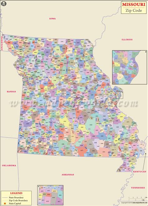 buy missouri zip code map