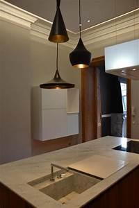 Suspension Pour Cuisine Moderne : cuisine moderne avec suspension d 39 lot et plan de travail ~ Teatrodelosmanantiales.com Idées de Décoration