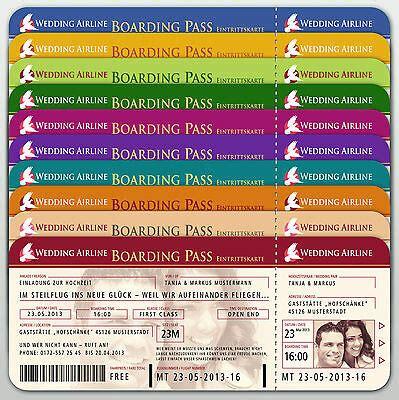 einladungskarten flugticket boarding pass ticket hochzeit