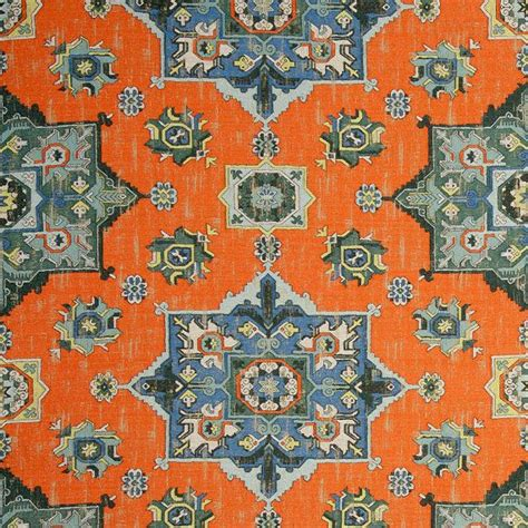 Blue And Orange Upholstery Fabric by Orange Blue Woven Tapestry Upholstery Fabric Textured