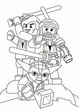Lego Wars Coloring Star Characters Sky Folks Hi sketch template