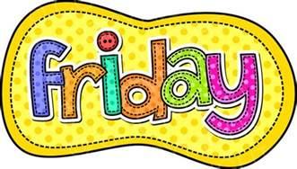 Days of Week Friday Clip Art