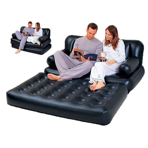 4.2 out of 5 stars. Multifunctional Inflatable Sofa Leather Folding Sofa Bed Outddor Furniture Garden Sofa Bedroom ...