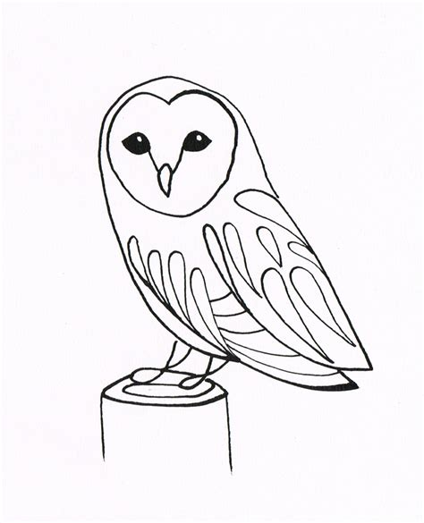 simple owl drawings simple owl drawing coloring pages