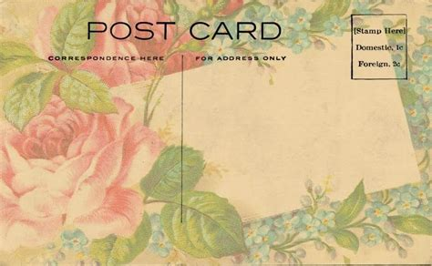 sweetly scrapped  digital post card images postcard