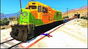 Trains Crashes With Colors Cars