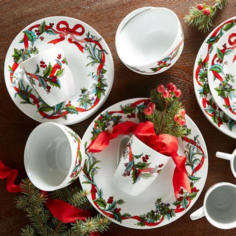 pc christmas dinnerware set  size christmas