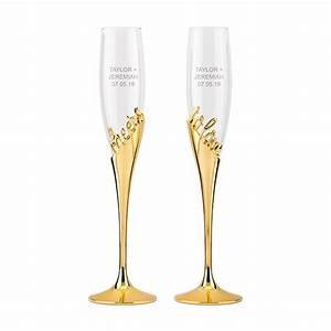 Flûtes à Champagne Originales : gold champagne glasses weddingstar ~ Teatrodelosmanantiales.com Idées de Décoration