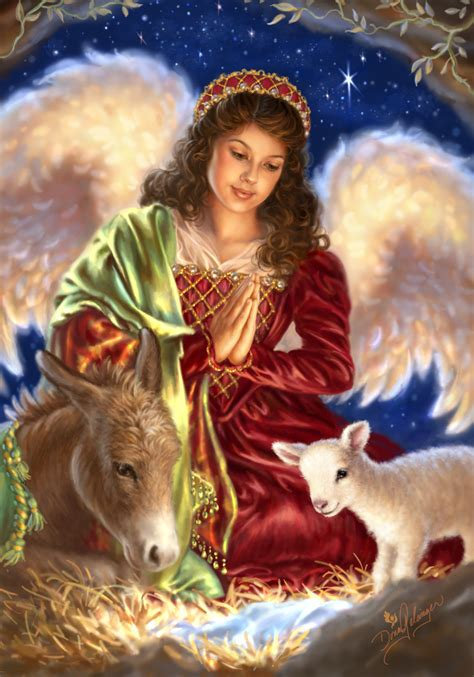 christmas angel away in a manger by dona gelsinger among us