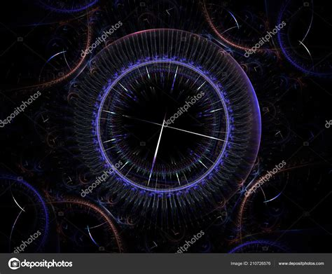 time machine mechanism eternity surreal illustration