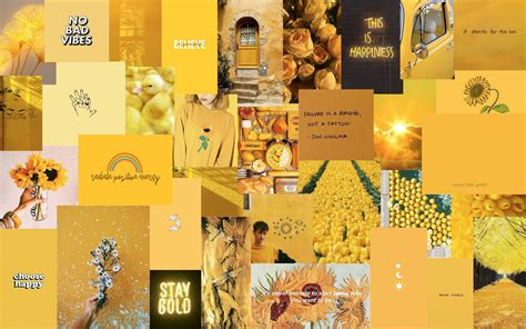yellow aesthetic laptop wallpaper desktop wallpaper