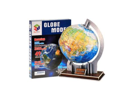 3D puzle Globuss 49 pcs - Rotallieta.lv