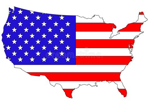 American Flag On Country Map Stock Vector