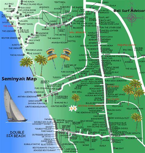 seminyak map detail maps bali indonesia