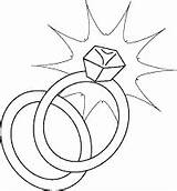 Coloring Ring Rings Printable Diamond Pages Sheet Engagement Clipart Template Band sketch template