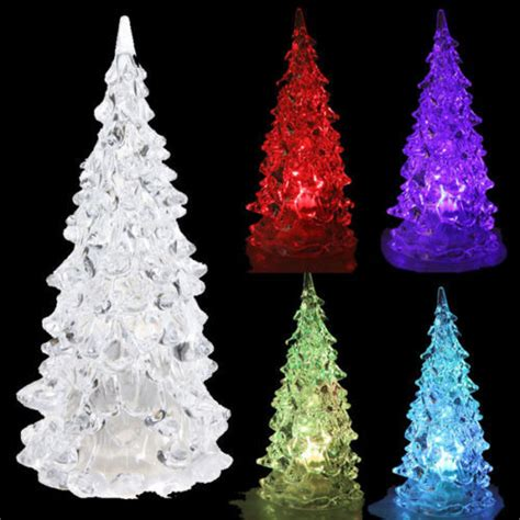 table top christmas trees with lights led battery operated colour changing desk table top