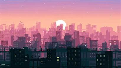 Pixel Bit Wallpapers 4k Backgrounds Artwork Buildings