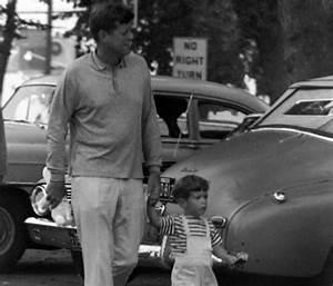 JFK with his son, John F. Kennedy, Jr. walking in Hyannis ...