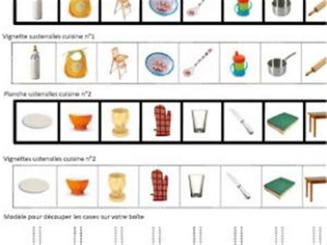 les jeux de la cuisine de boîte à tri montessori les ustensiles de cuisine par