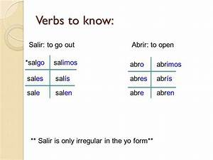 -AR, -ER and –IR Verbs. - ppt descargar
