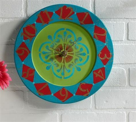 pjlrg wall clock project crafts painting crafts