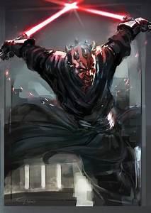 Obi Wan Kenobi / Kit Fisto vs Asajj Ventress / Darth Maul ...
