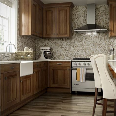 lowes kitchen cabinets pictures allen roth marble beige herringbone mosaic marble wall 7235