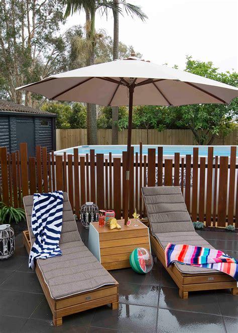 diy umbrella stand   drinks table  homes