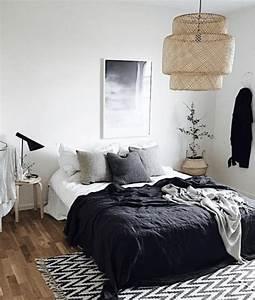 Chambre 9m2 Ikea : le on de stylisme id es pour une chambre en noir et ~ Melissatoandfro.com Idées de Décoration