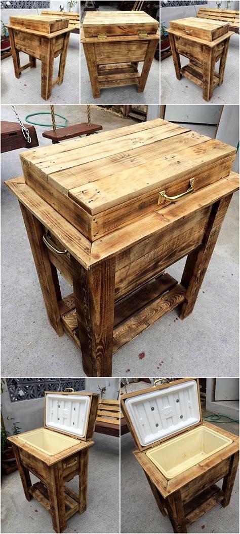 pure rustic pallet cooler idea wood pallet furniture