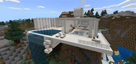 Modernes Haus Minecraft Command by Mountain Modern House Creation Minecraft Pe Maps