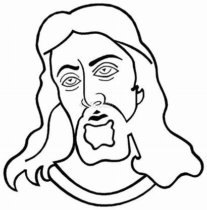 Jesus Coloring Cartoon Pages Face Colouring Cross