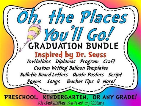 These graduation letters from parents to their kids will have you crying the happiest tears. Kindergarten Korner: This Oh, the Places You'll Go! Graduation Program MEGA Bundle is inspired ...