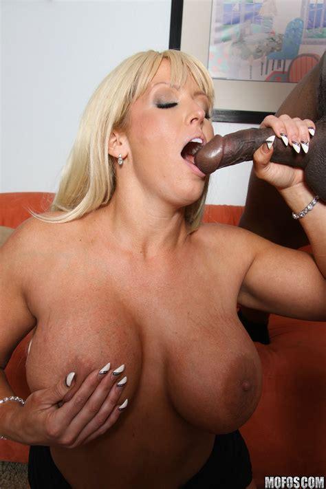 Big Titted Blonde Is Sucking Black Dick Photos Alura Jenson MILF Fox