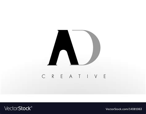 A D Letter Logo Design Creative Ad Letters Icon Vector Image