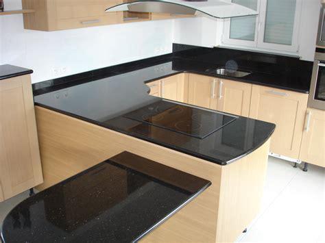 cuisine plan de travail granit noir plan de travail cuisine granit noir plan de travail en