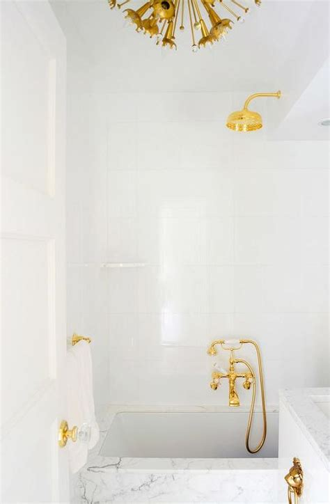 How To Paint Tile Bathroom by White And Gold Bathrooms Contemporary Bathroom