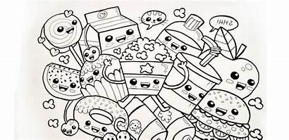 Kawaii Coloring Pages Printable Adults Sheets Printables