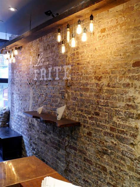 faux brick interior wall image wall restaurant interior design bricks reclaimed wood