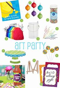 art party ideas {style board} • The Celebration Shoppe