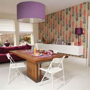Dining Rooms With Wallpaper | Simple Home Decoration