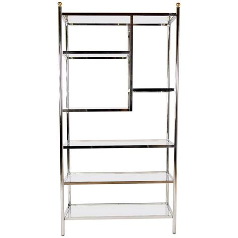Glass Etageres by Vintage Polished Chrome And Glass Etagere For Sale At 1stdibs