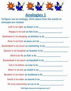 Analogies Worksheet - wiildcreative