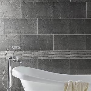 carrelage salle de bain gris et blanc peinture faience With carrelage gris salle de bain