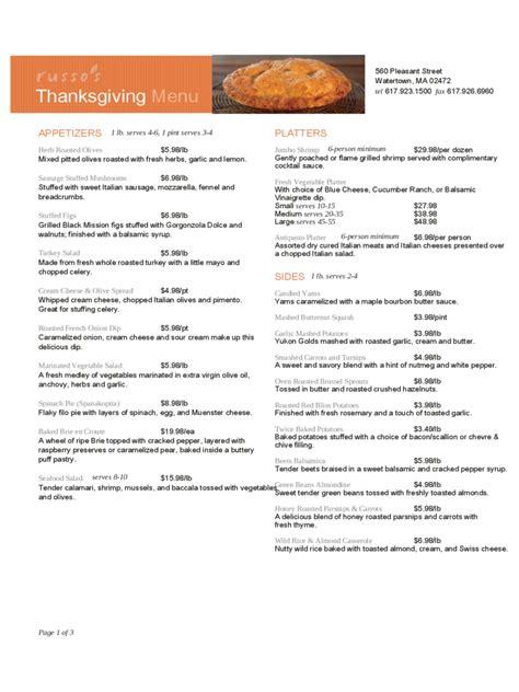 restaurant thanksgiving menu template edit fill sign