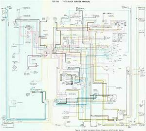 Buick 1972 Complete Wiring Diagram For 4d