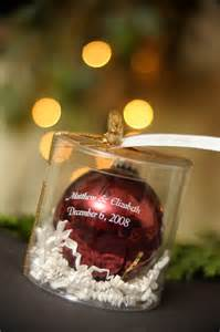 wedding favor for a christmas wedding probably wouldn t just want our names on it because who