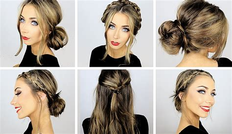 5 easy heatless hairstyles for work school danielle