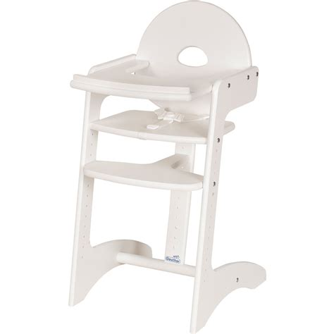 chaise haute blanche chaise haute bébé filou blanche de geuther chez naturabébé
